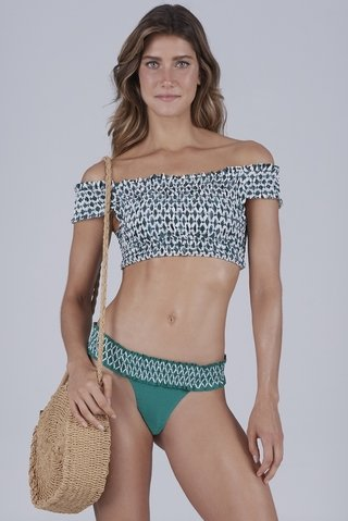 biquini ciganinha lastex verde isabel 937136 new beach