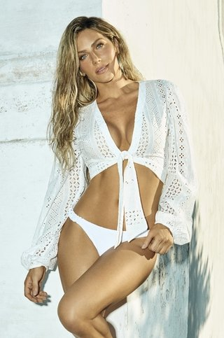 camisa cropped de laise branca 947460 new beach