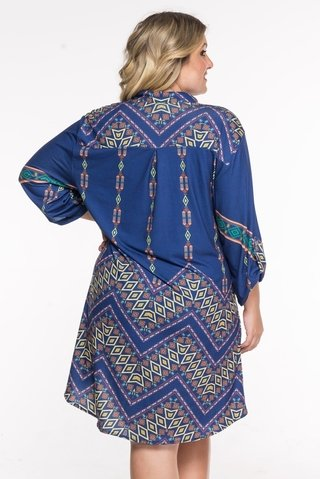 camisa plus size estampada azul 6069 maryssil