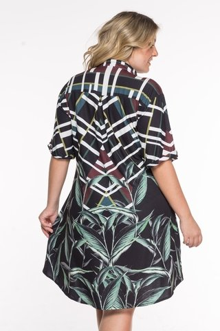 camisa plus size manga curta estampada 6052 maryssil