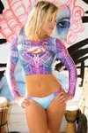 Cropped Dannia 378 - Ellis Beach Wear - Morango Brasil