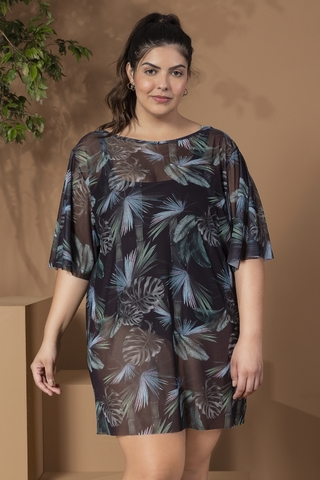 t-shirt plus size estampada florest 44862 live