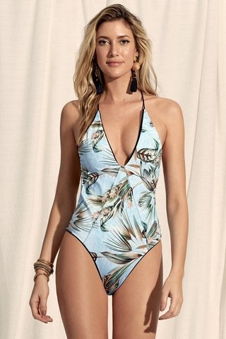 maio dupla face strappy preto estampado 947201 new beach