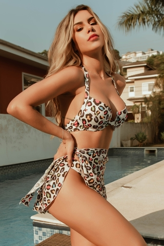 saia pareo curta animal print ibiza 2110 madallola by morango