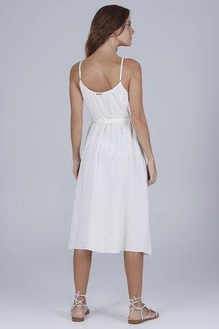 vestido decote transpassado off white 938401 new beach