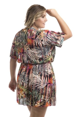 vestido plus size california estampado florlis 145481 acqua rosa
