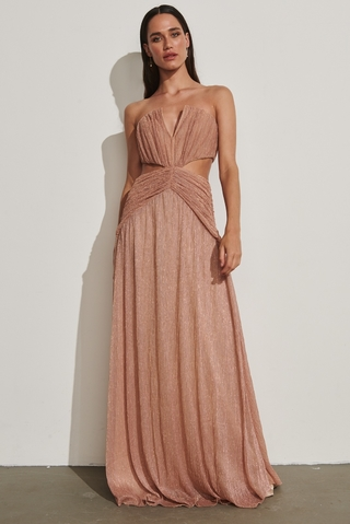 vestido longo saint barth lurex rose 701834 inti