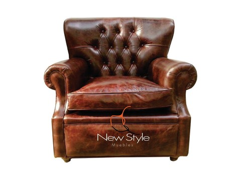 Sillon Mod.CHURCHILL cuero gastado