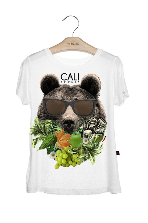 Camiseta Feminina California Bear