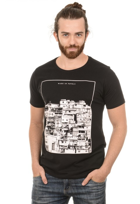 Camiseta Masculina Made in Favela