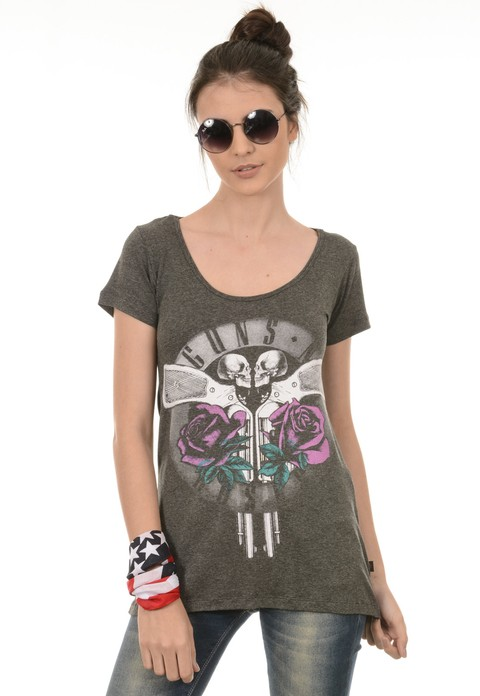 Camiseta Feminina Guns
