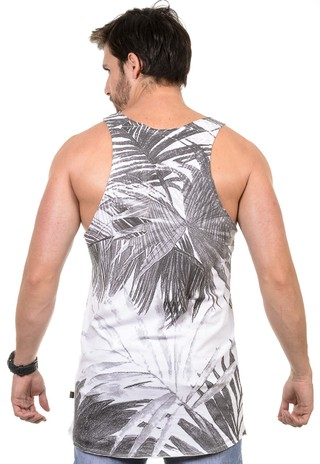 Camiseta Masculina Palm Leaves - Red Feather varejo