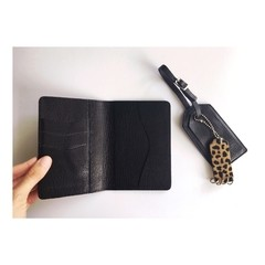 Passport Cover Black - MARS+ZORBA