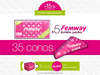 5 Femway Jumbo Packs (35 conos)