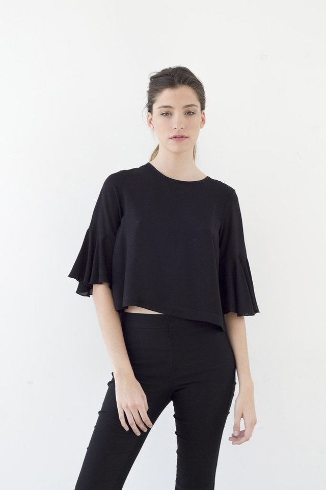 TOP TROPICAL Negro - comprar online