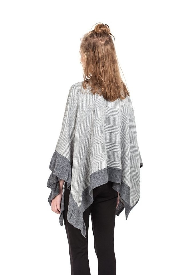 PONCHO LUCY Gris - comprar online