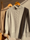 SWEATER POLERÓN QUEEN GRIS MELANGE