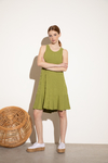 VESTIDO BISHOP AVOCADO