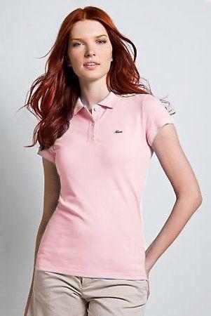 Camiseta Polo Feminina Lacoste mod7775 - Zand 53dd9a36b3