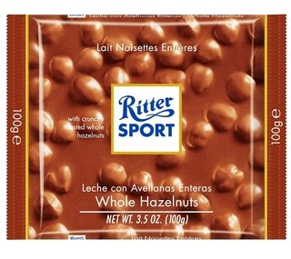 Ritter® chocolate con avellanas 100g