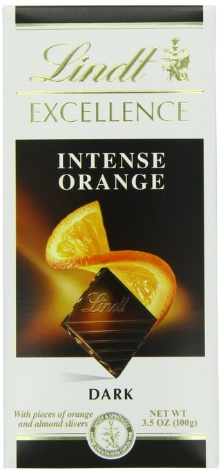 Lindt®, tablet excellence orange intense 100 g.
