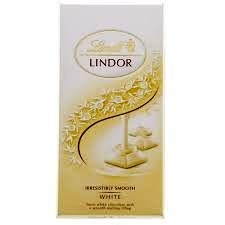 Lindt, white chocolate 100 g.