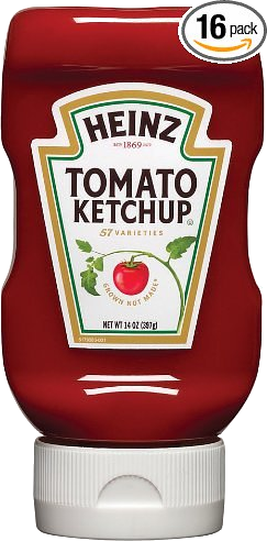 Heinz® Ketchup Top Down x 397 ml.