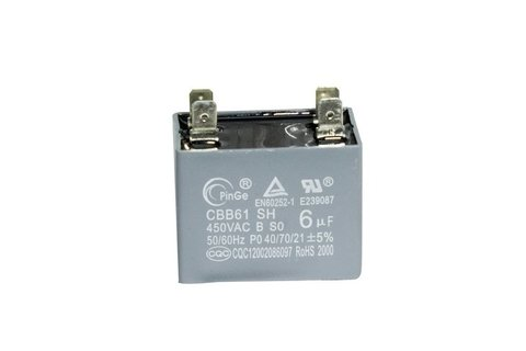 CAPACITOR DO MOTOR 6UF - KOMECO KOP 36QC 220V