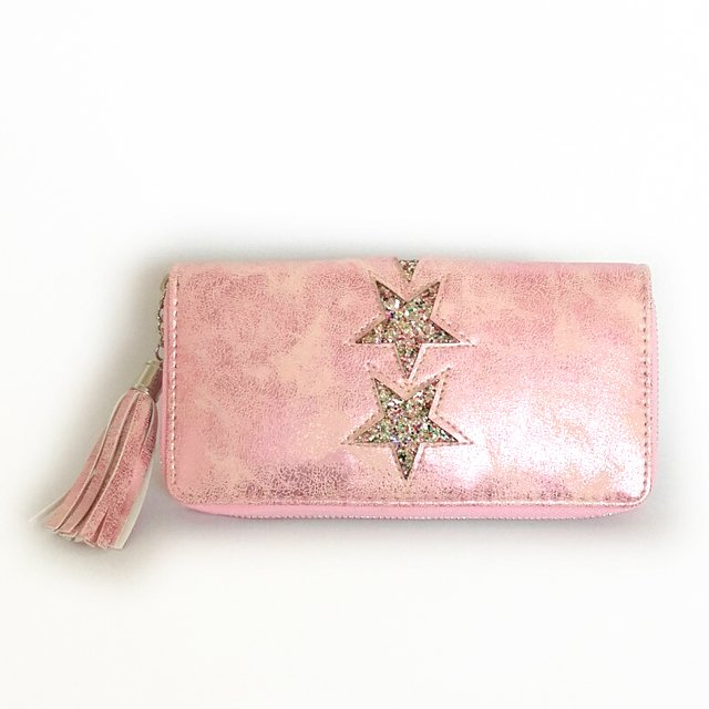 Billetera Star Glitter Pink