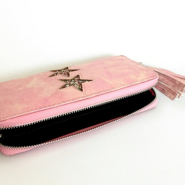 Billetera Star Glitter Pink en internet