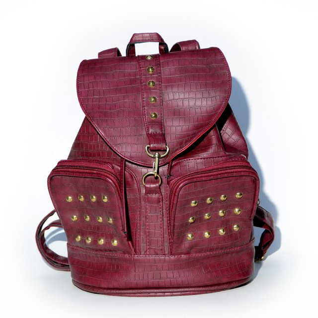 Mochila Star croco bordeaux