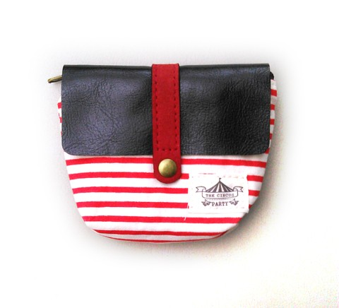 Monederito Navy Red