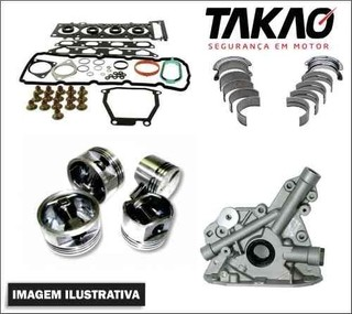 Kit retifica motor Peugeot 206 / Citroen C3 1.4 8v gasolina / flex
