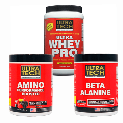 Ultra Whey Pro + Beta Alanina + Amino Performance Booster - Ultra Tech