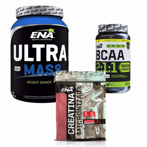 ULTRA MASS + BCAA + CREATINA - ENA