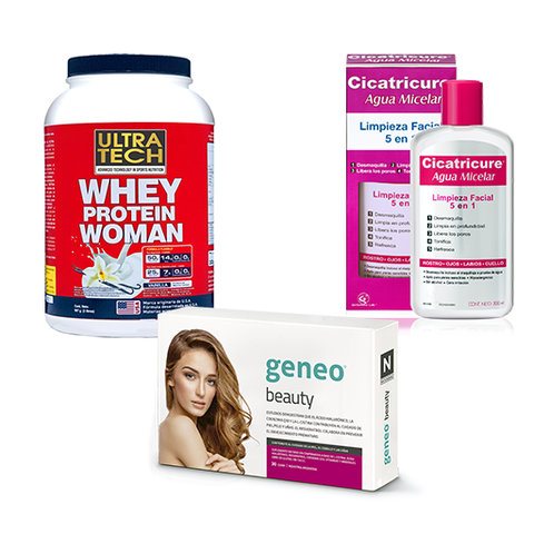 Geneo Beauty + Whey Protein Woman + Agua Micelar