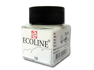 Tinta Talens Ecoline x30 ml Color Blanco 100