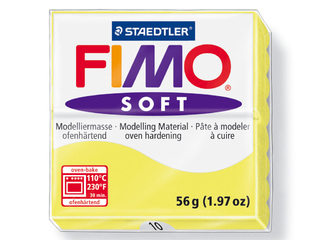 Pasta para modelar Fimo Soft bloque de 56 g color amarillo limon