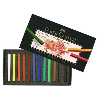 Pastel tiza Faber Castell Polychromos x 12 colores