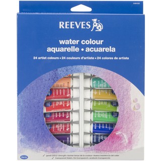 Acuarelas Reeves 24 pomos x 10 ml.