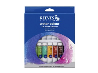 Acuarelas Reeves 18 pomos x 10 ml.