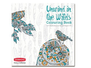 Libro para Colorear Unwind in the wilds + Lapices Derwent Coloursoft x10