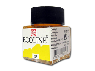 Talens Ecoline Tinta x 30 ml color  Amarillo Limon 205