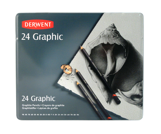 Lapices de grafito Derwent Graphic x 24