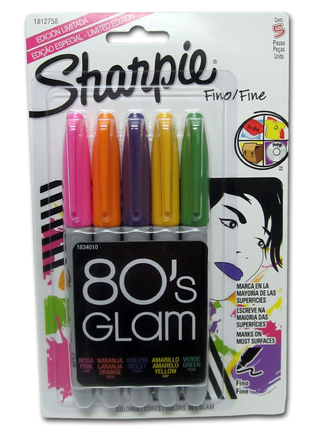 Marcadores Sharpie fino 80´s Glam Pack x 5