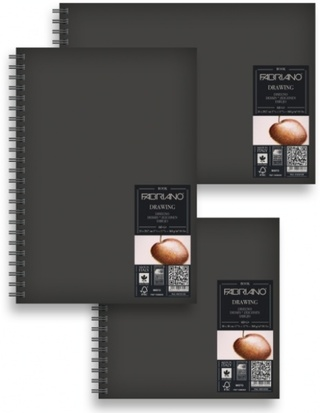 Cuaderno Fabriano Drawing Book c/espiral 160g 21x29.7 cm x60h