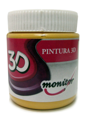 Pintura 3D Monitor pote 65 cc. color Amarillo Imperio