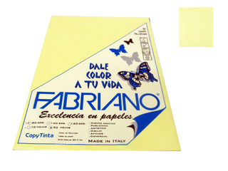 Papel Fabriano Copy Tinta 80 grs. A4 Blister x 20 u. color Banana