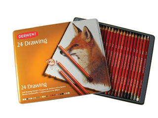 Lpices Derwent Drawing x 24 suaves colores surtidos