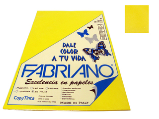 Papel Fabriano Copy Tinta 80 grs. A4 Blister x 20 u. color Amarillo